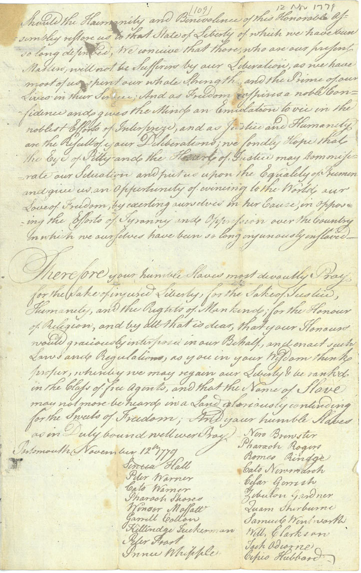 A large handwritten document on white paper. The text of the document is written in small and large cursive handwriting, in black ink. At the end of the document are several signatures.