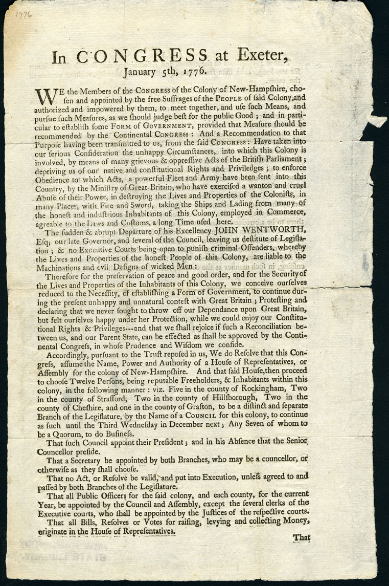 A document is seen with many lines of printed text. There are no pictures, and the document is slightly torn on some edges. In larger print at the top, the title reads